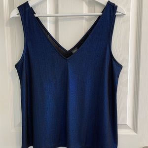 Navy metallic tank
